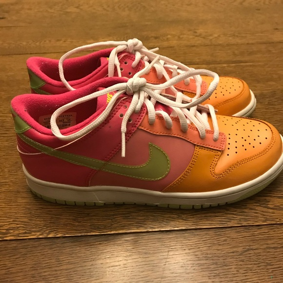Colorful Nike Tennis Shoes, size 6Y or woman's 7.5